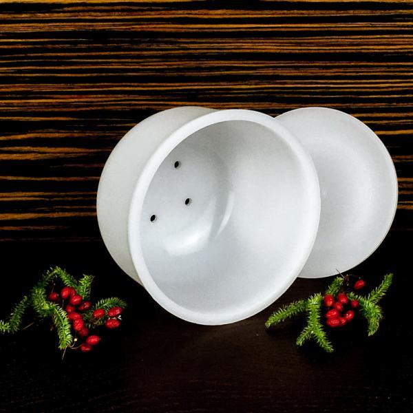 Форма для сыра крошка Гауда 0,5 л, шарообразная - с крышкой-поршнем, Franz Janschitz