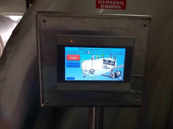 Охладитель молока - закрытого типа объёмом 8000 л
