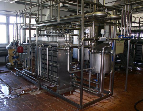 Пастеризационно-охладительная установка проточного типа
