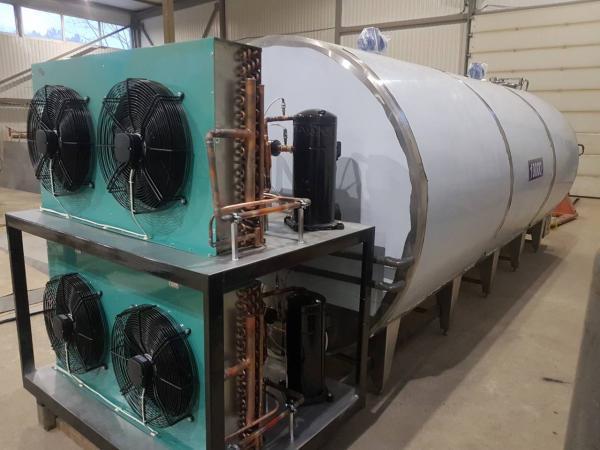 Танк - охладитель молока - закрытого типа V-12000 л