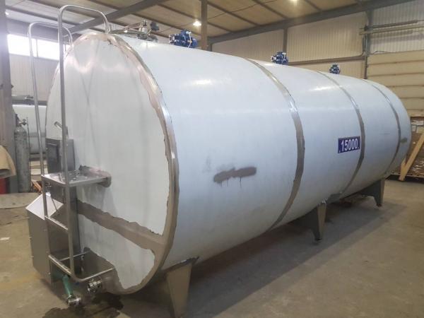 Танк - охладитель молока - закрытого типа V-15000 л