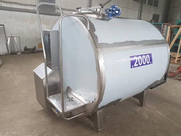 Танк - охладитель молока - закрытого типа V-2000 л