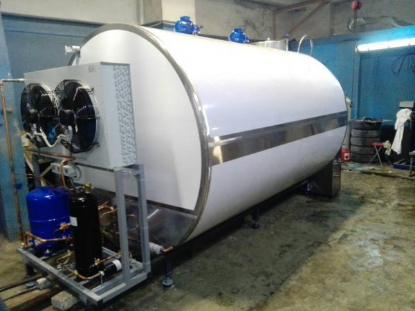 Танки-охладители молока горизонтально цилиндрические - закрытого типа, 1500 - 6000 л