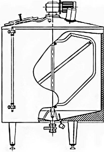 Емкость для переработки молока Я1-ОСВ 1