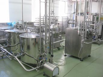 Линия производства питьевого пастеризованного молока и сливок