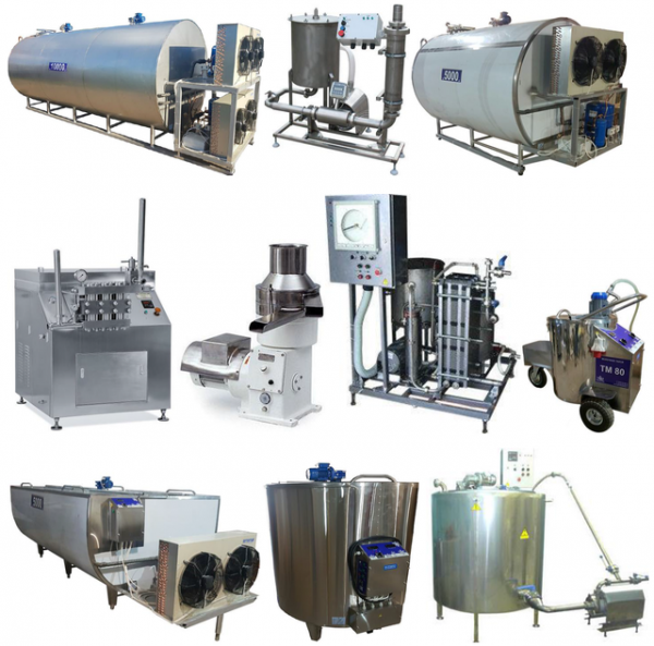 Оборудование для переработки молока, - производства молочных продуктов