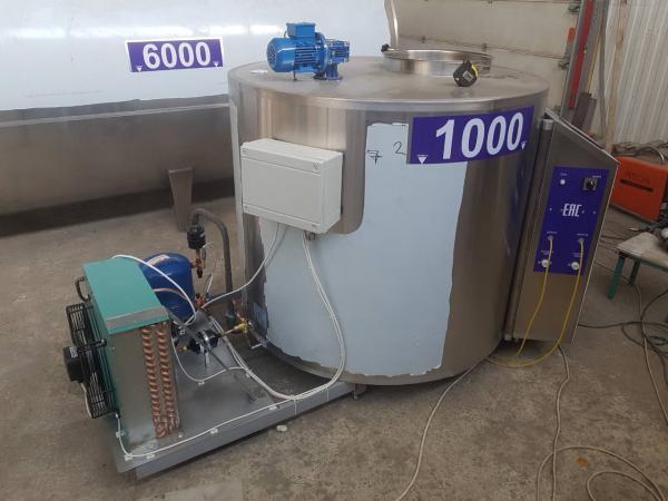 Охладитель молока закрытого типа - на 1000 л