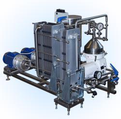 Пастеризатор молока и сливок - с сепаратором с роторными нагревателями ПМР-02-ВТ