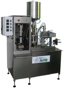 Полуавтомат розлива и упаковки жидких продуктов - «Альтер-04»