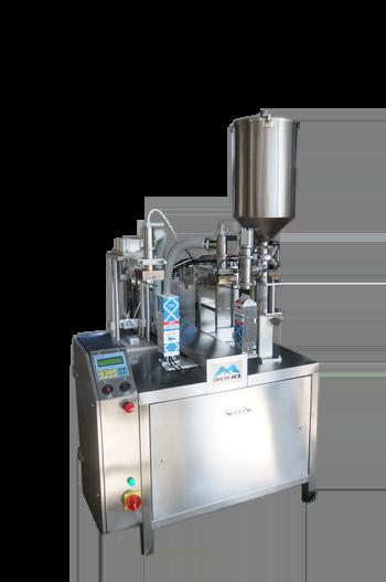 Полуавтомат розлива и упаковки жидких продуктов - в картонную упаковку типа PURE-PACK