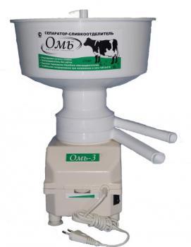 Сепаратор для молока ОМЬ-3, индукционный двигатель, регулировка оборотов - на корпусе