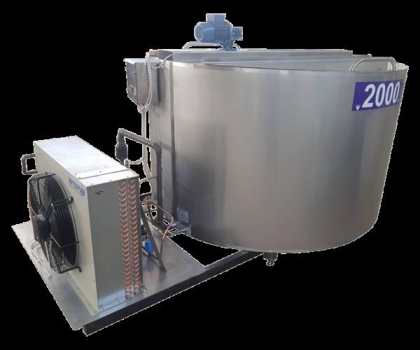 Танк - охладитель молока - вертикального типа V-1000 л