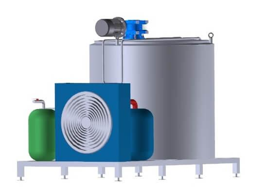 Танк-охладители молока 100 литров - открытого типа УОМ R-100