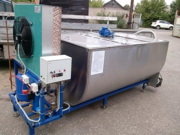Танки-охладители молока горизонтальные полуцилиндрические - открытого типа, 1500 - 5000 л