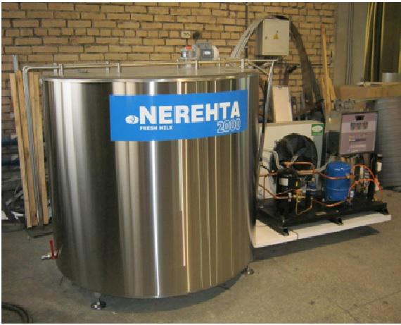 Вертикальные установки охлаждения молока - закрытого типа УОМЗТ 1000-В