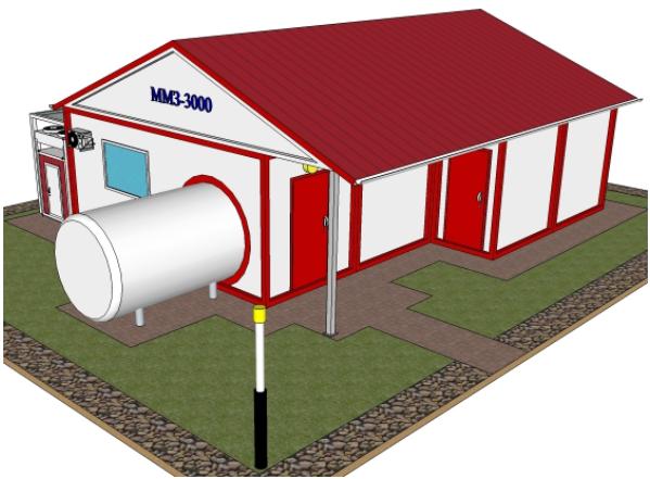 Завод модульный по переработке - до 3000 литров молока